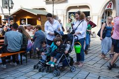 Festival de la ciudad en Sigmaringen, Alemania Imagen de archivo libre de regalías