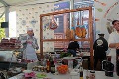 Festival de la comida de la calle en Kiev, Ucrania Fotografía de archivo libre de regalías