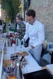 Festival de la comida de la calle en Kiev, Ucrania Foto de archivo libre de regalías
