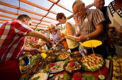 Festival de la comida del hotel del verano foto de archivo