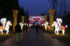 festival de la festival-linterna de 2016 soles en Chengdu, China Foto de archivo