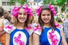 Festival de la flor en Funchal, isla de Madeira imagen de archivo libre de regalías