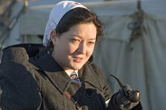 Festival de la historia militar de Rusia XX del siglo Región del Samara, Togliatti, el 5 de enero de 2018 imagenes de archivo