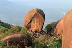 Festival de la huella de Buda en la montaña Fotografía de archivo libre de regalías