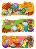 Festival de la India del fondo feliz del doddle de Diwali de las luces
