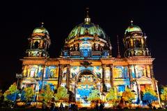 Festival de la luz, Berlín, Alemania - Dom del berlinés Imágenes de archivo libres de regalías