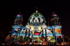 Festival de la luz, Berlín, Alemania - Dom del berlinés Foto de archivo libre de regalías