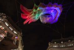 Festival de la luz de Lumiere en Londres Imagen de archivo libre de regalías