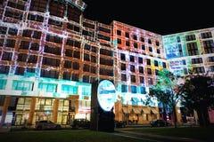 Festival de la luz en Leipziger Platz, Berlín, Alemania Imagenes de archivo