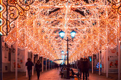 Festival de la Navidad del invierno en Moscú Rusia Imagen de archivo