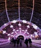 Festival de la Navidad del invierno en Moscú Rusia Foto de archivo