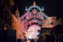 Festival de la Navidad del invierno en Moscú Rusia Fotos de archivo libres de regalías