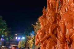 Festival de la Thaïlande de statue de cire photographie stock libre de droits