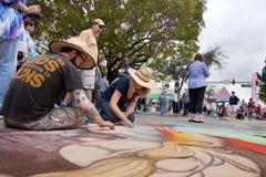 Festival de la tiza de la calle Fotografía de archivo libre de regalías