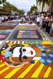 Festival de la tiza de la calle Fotografía de archivo