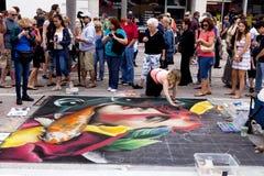Festival de la tiza de la calle Foto de archivo