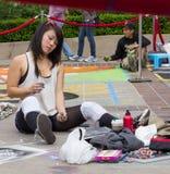 Festival de la tiza de Pasadena Fotografía de archivo libre de regalías