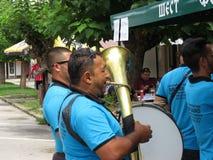 Festival 2018 de la trompeta de Guca foto de archivo