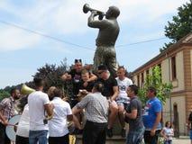 Festival 2018 de la trompeta de Guca fotografía de archivo