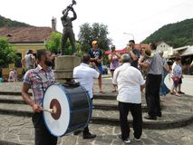 Festival 2018 de la trompeta de Guca imagen de archivo libre de regalías