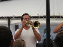 Festival 2018 de la trompeta de Guca Imagenes de archivo