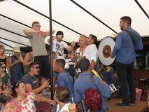 Festival 2018 de la trompeta de Guca Foto de archivo libre de regalías