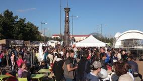 Festival de la zona de la comida almacen de metraje de vídeo