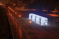 Festival de Lanter à Kaohsiung, Taïwan par le centre d'art du pilier 2 Images libres de droits
