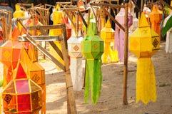 Festival de lanterna colorido, Chiang Mai, Tailândia Imagens de Stock Royalty Free