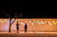 Festival de lanternas asiático em Taitung, Taiwan imagem de stock