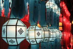 Festival de lanternas internacional colorido 2013,   Foto de Stock