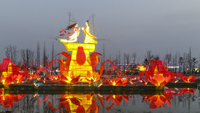 festival 2016 de lanterne à Chengdu, porcelaine Photographie stock libre de droits