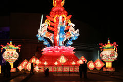 Festival de lanterne, Chengdu, Chine en 2015 Photographie stock libre de droits
