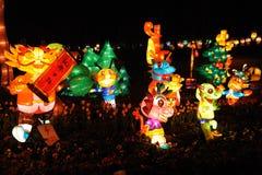 Festival de lanterne chinois de l'an 2012 neuf Image libre de droits