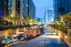 Festival de lanterne de Séoul 2014 au courant de Cheonggye photos libres de droits
