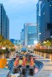 Festival de lanterne de Séoul 2014 au courant de Cheonggye images libres de droits