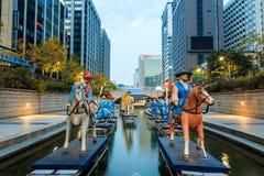 Festival de lanterne de Séoul 2014 au courant de Cheonggye photo libre de droits
