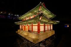 Festival de lanterne de Séoul au courant de cheonggyecheon images libres de droits