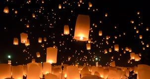 Festival de lanternes de ciel ou festival de YI Peng en Thaïlande photos libres de droits