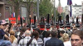 Festival de las épocas y de las épocas en la calle de Tverskaya en Moscú, Rusia metrajes