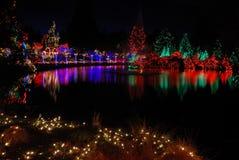 Festival de las luces de la Navidad Foto de archivo libre de regalías