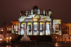 Festival de las luces Gendarmenmarkt Fotografía de archivo