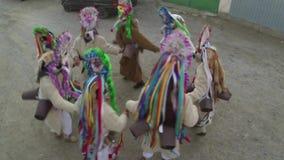 Festival de las tradiciones y del desfile (Sarbatoarea Mosoaielor) de la Navidad almacen de metraje de vídeo