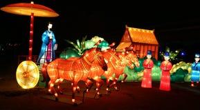 Festival de linterna, Chengdu, China en 2015 Foto de archivo