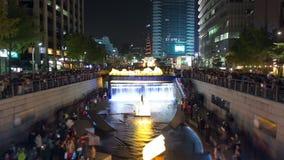 Festival de linterna de la ciudad de Seul almacen de video