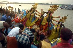 Festival de los Ídolos-Durga de la arcilla de la India Fotografía de archivo