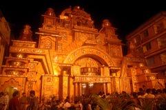 Festival de los Ídolos-Durga de la arcilla de la India Imagenes de archivo