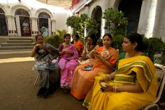 Festival de los Ídolos-Durga de la arcilla de la India Imagen de archivo libre de regalías