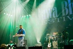 Festival 2014 de los azules de Rawa: Robert Randolph y la banda de la familia Imagenes de archivo