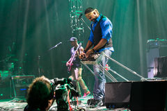 Festival 2014 de los azules de Rawa: Robert Randolph y la banda de la familia Fotografía de archivo libre de regalías